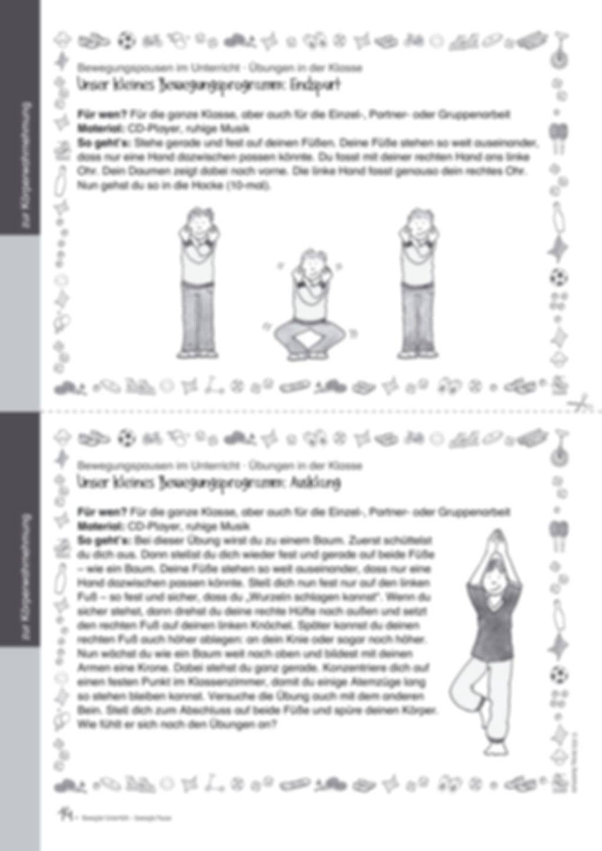 Übungen und Spiele für eine bewegte Grundschule: Material komplett Preview 10