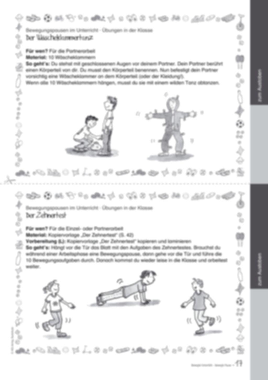 Übungen und Spiele für eine bewegte Grundschule: Material komplett Preview 13
