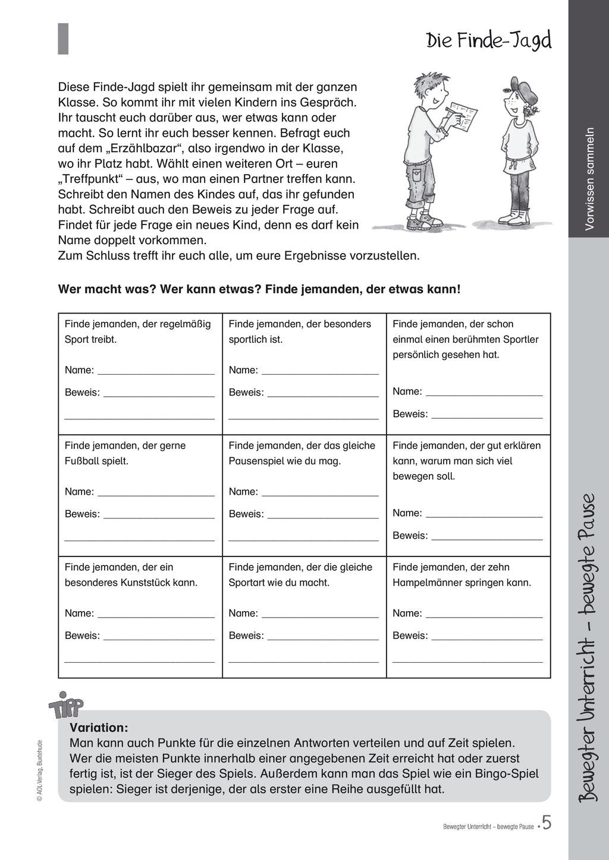 Übungen und Spiele für eine bewegte Grundschule: Material komplett Preview 1