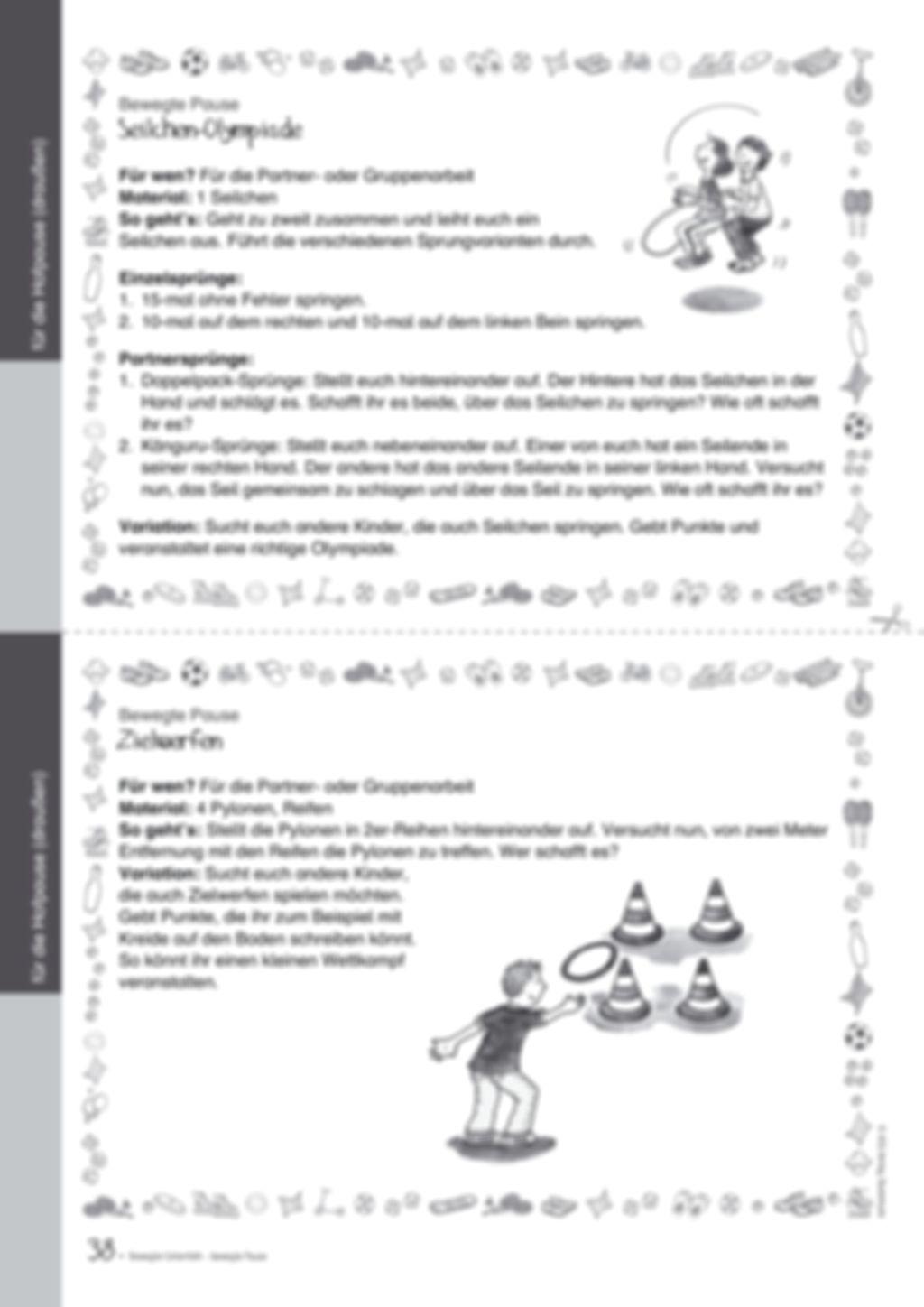 Übungen und Spiele für eine bewegte Grundschule: Material komplett Preview 34