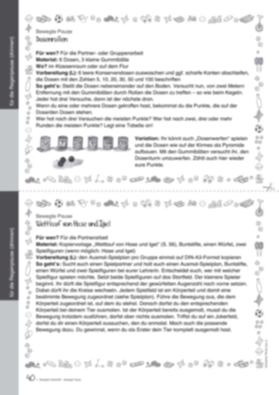 Übungen und Spiele für eine bewegte Grundschule: Material komplett Preview 36