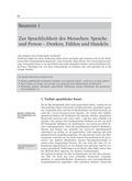 Deutsch, Sprache, Sprachbewusstsein, Sprachkompetenz, Sprachverständnis, Sprachlichkeit