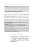 Deutsch, Sprache, Sprachbewusstsein, Stil, Sprachwandel, Sprachvarietäten, Dialekt, Soziolekt