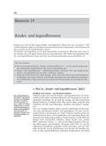 Deutsch_neu, Sekundarstufe II, Sprache und Sprachgebrauch untersuchen, Sprechen und Zuhören, Kinder- und Jugendliteratur, Merkmale von KJL