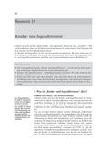 Kinder- und Jugendliteratur, Merkmale von KJL