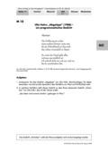 Deutsch, Literatur, Fiktionale Texte, Literaturgeschichte, Umgang mit fiktionalen Texten, Autoren, Lyrik, Analyse fiktionaler Texte, Ulla Hahn, gedichtsanalyse