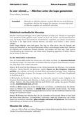 Deutsch, Literatur, Fiktionale Texte, Umgang mit fiktionalen Texten, Epik, Analyse fiktionaler Texte, Gattungen, Märchen