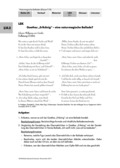 Deutsch, Literatur, Fiktionale Texte, Umgang mit fiktionalen Texten, Balladen, Analyse fiktionaler Texte, Gattungen, Erlkönig