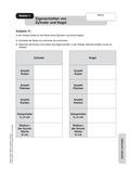 Mathematik, Raum & Form, Körperberechnung, Oberfläche, Zylinder, Kegel, Körpereigenschaften, Volumen