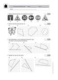 Mathematik, funktionaler Zusammenhang, Raum & Form, Geometrie, Achsensymmetrie, Spiegelachse, zeichnen, spiegelung