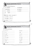 Mathematik, Zahlen & Operationen, wurzeln, Quadratzahlen, Potenzen