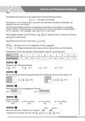 Mathematik, Zahlen & Operationen, Größen & Messen, Bruchrechnung, Prozentrechnung, umrechnen