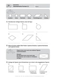 Mathematik, Geometrie, Dreieck, geometrische Figuren, vierecke, arbeitsblätter