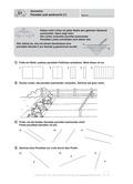 Mathematik, Raum & Form, Größen & Messen, Geometrie, analytische Geometrie, Strecke, Geodreieck, Lagebeziehung