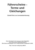Mathematik, Zahlen & Operationen, Algebra, Terme, Gleichungen, multiple choice