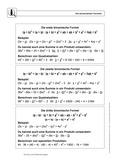 Mathematik, Zahlen & Operationen, Algebra, binomische, Formeln