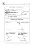 Mathematik, Geometrie, Konstruktion, Parallelogramm
