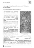 Geschichte, Epochen, Leitprobleme, Dimensionen historischer Erfahrung, Mittelalter, Lebenswelten, Kulturgeschichte, Nahrung im Mittelalter