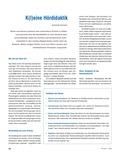 Deutsch, Didaktik, Aufbau von Kompetenzen, Hörkompetenz, Hördidaktik