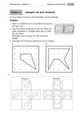 Mathematik, Geometrie, funktionaler Zusammenhang, Raum & Form, geometrische Formen, Achsensymmetrie, geobrett, spiegelung
