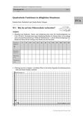Mathematik, funktionaler Zusammenhang, Funktion, Analysis, quadratische Funktionen, sachaufgaben