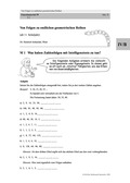 Mathematik, Zahlen & Operationen, Grenzprozesse & Approximation, Arithmetik, Folgen, ganze Zahlen