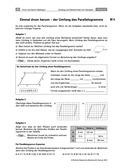 Mathematik, Raum & Form, Geometrie, Form und Raum, Flächeninhalt, vierecke, umfang