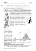 Mathematik, Raum & Form, Geometrie, Körperberechnung, Strahlensätze, Pyramide, transfer
