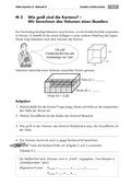 Mathematik, Raum & Form, Geometrie, Körperberechnung, Volumen bestimmen, Quader, arbeitsblätter
