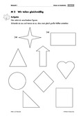 Mathematik, Zahlen & Operationen, Geometrie, Bruchrechnung, geometrische Formen, Halbieren, arbeitsblätter