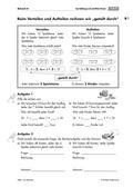 Mathematik, Zahlen & Operationen, schriftliches Rechnen, Operationsverständnis, Stellenwerttafel, schriftliches dividieren