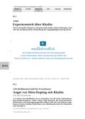 Biologie, Informationsverarbeitung in Lebewesen, Doping, Drogen, Ritalin, mensch