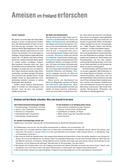 Biologie, Biosysteme im Stoff- und Energiefluss, Bau und Funktion von Biosystemen, Ernährung, Humanbiologie, Nahrung, Körperbau, ameise