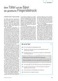 Biologie, Entstehung und Entwicklung von Lebewesen, Genetik, genetischer fingerabdruck
