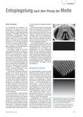 Biologie, Interaktion von Organismus und Umwelt, Bionik, Entspiegelung, Motte