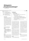 Physik, Mechanik, Energie, Energieumformung, Energiewandlungsketten