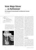 Chemie, Allgemeine Chemie, Nachweisreaktionen, Nachweisreaktion, Calcium, kalk