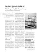 Chemie, Chemiedidaktik, lösung, teilchenkonzept, Salze