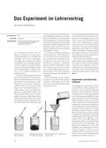 Chemie, Chemiedidaktik, Umweltchemie, Experiment