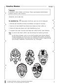 Kunst, Material, Accessoires und Gebrauchsgegenstände, Masken, malen