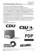 Politik, Partizipation in der Verfassungswirklichkeit, Parteien, Wahlen
