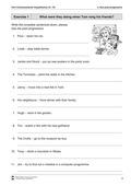 Englisch, Grammatik, Grammar, Zeiten / tenses, Verben / verbs, past progressive, verbs