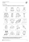 Englisch, Themen, Alltag, Einkaufen, Kleidung, Shopping, Clothes, vocabulary, vokabeln, fachfremd