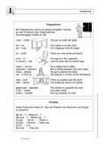 Englisch, Grammatik, Themen, Präpositionen / prepositions, Alltag, Grammar, Prepositions, Schule, School