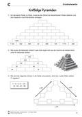 Mathematik, Grundrechenarten, Raum & Form, Addition, Körperberechnung, Pyramide, arbeitsblätter