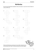 Mathematik, Raum & Form, Geometrie, Körperberechnung, Würfel, Würfelnetz, arbeitsblätter