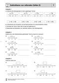 Mathematik, Zahlen & Operationen, Grundrechenarten, Arithmetik, rationale Zahlen, Subtraktion, Zahlenstrahl, negative Zahlen