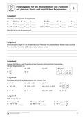 Mathematik, Zahlen & Operationen, Grundrechenarten, Potenzen, Multiplikation, Potenzgesetze, natürliche Exponenten