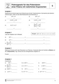Mathematik, Zahlen & Operationen, Potenzen, Potenzgesetze, potenzieren