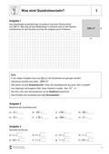 Mathematik, Zahlen & Operationen, wurzeln, quadrat